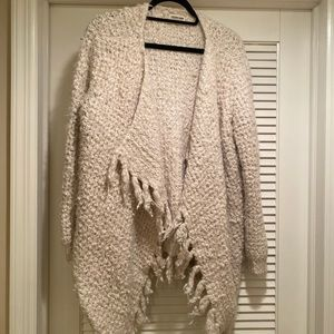 COTTON CANDY  sweater with fringe
